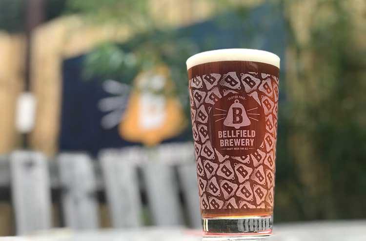 Pint of Bellfield in the beer garden