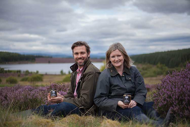 From left - Iain Millar and Suzie Millar