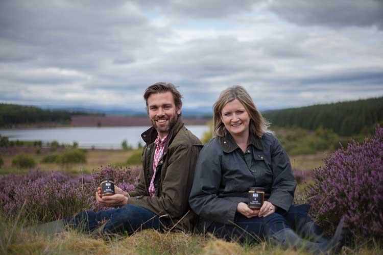 From left - Iain Millar and Suzie Millar