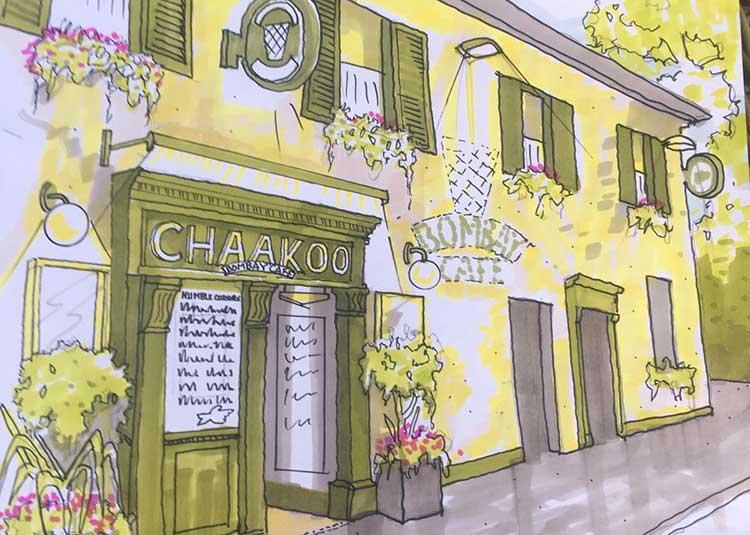 Chaakoo Bombay Café artists impression