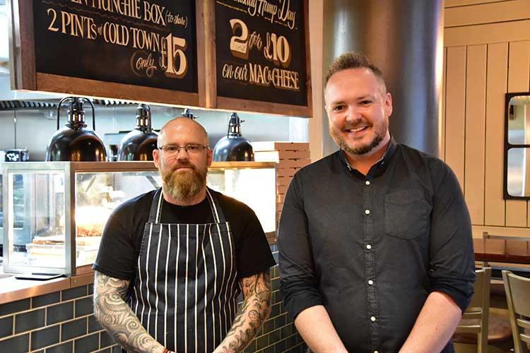 L-R Kenny Maltman Head Chef & Emmett Timoney General Manager
